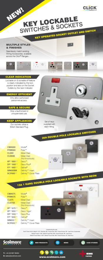 Lockable sockets and lockable switches