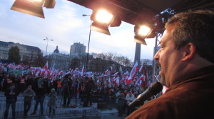 CFACT President David Rothbard rallies over 50,000 Polies against the UN treaty