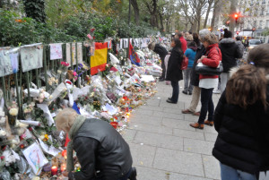 Paris terror victims memorial