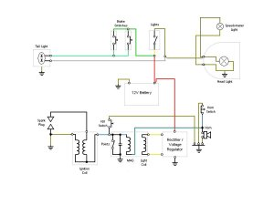 Wiring Diagram (12v Conversion) — Moped Army