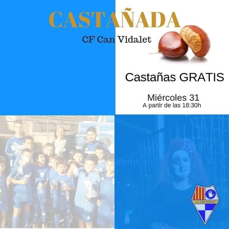 Castañada CF Can Vidalet🌰 🗓miércoles 31 ⏱18.30h 📍CF Can Vidalet ¡¡No te lo pierdas!! #cfcanvidalet  #esplugues  #canvidalet  #castañada