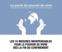 COVID-19 : Les 15 mesures d'urgence du pacte du pouvoir de vivre