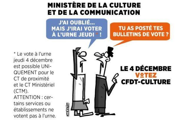LE 4 DÉCEMBRE 2014, VOTEZ CFDT-CULTURE !