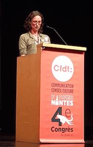 Anne au 4e congrès de la CFDT F3C - Nantes