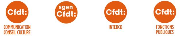 Logo CFDT F3C SGEN INTERCO UFFA