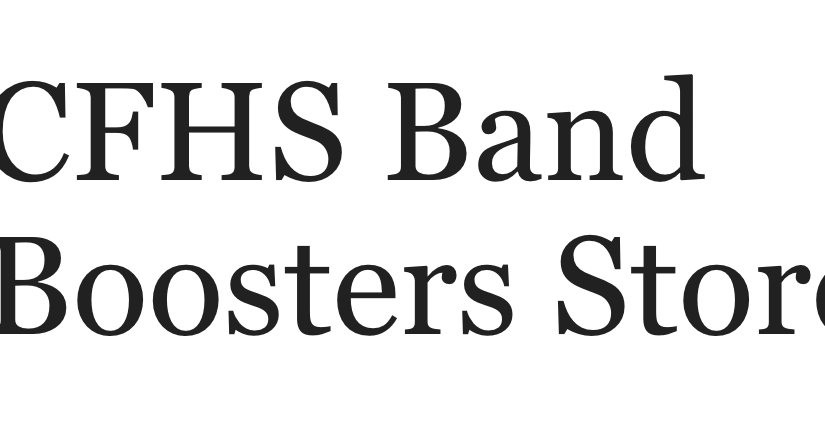 Band Boosters Store!