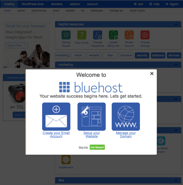 welcome to bluehost | get started bluehost