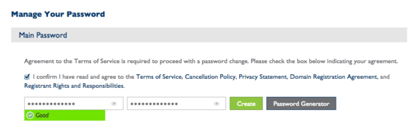 bluehost create password | bluehost terms of service |