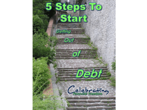 Need to Get Out of Debt But Don't Know Where to Start?  5 Simple Steps to Get Started Right Now