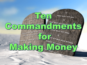 Ten Commandments For Making Money