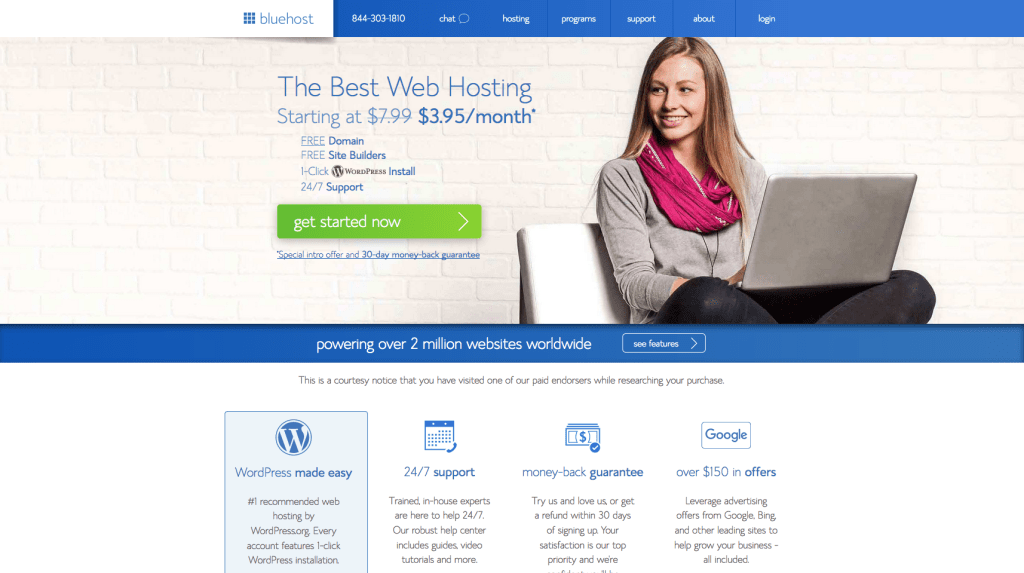 Bluehost Landing Page