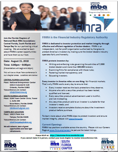 Virtual Meeting with FINRA