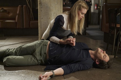 "STITCHERS - ""Full Stop"" ""Full Stop""  Tuesday, August 4, 2015 at 9:00PM ET/PT on ABC Family. (ABC Family/Eric McCandless)  EMMA ISHTA, KYLE HARRIS"