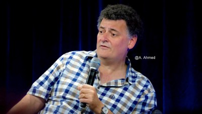 Steven Moffat at Nerd HQ Panel 2015. Photo copyright Annika Ahmed