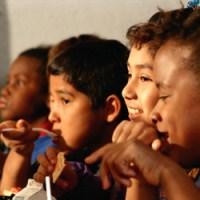 School Breakfast - image of children eating