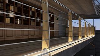 Ringhiere per scale in muratura a Firenze