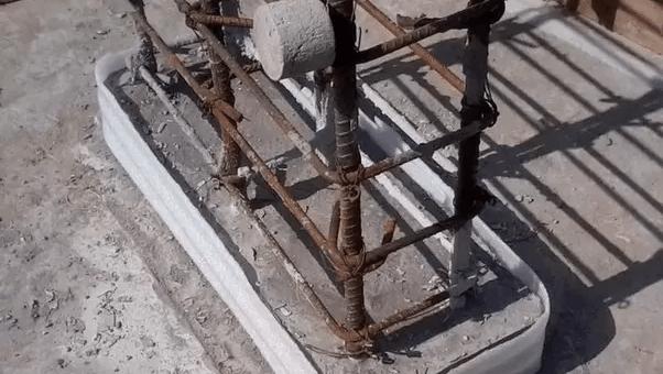 RCC columns pedestals and footings