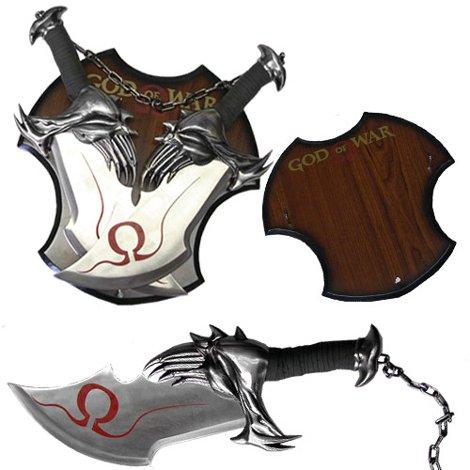 God Of War 17″ Twin Blade Kratos Sword Set With Plaque