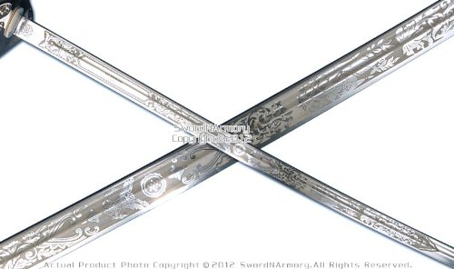 Military Ceremonial Sword U S  Army Officer Saber New Design Acid Etching  Blade