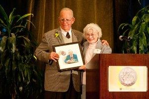 Pat Jollota honors Robert Schaefer with the 2013 Clark County First Citizen Award