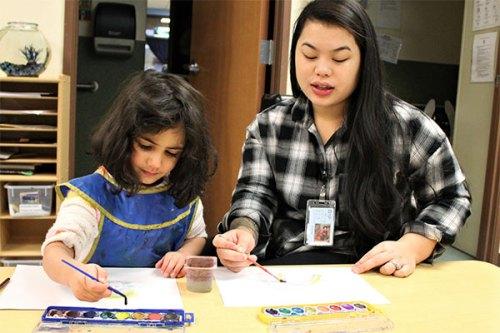ECEAP student and teacher