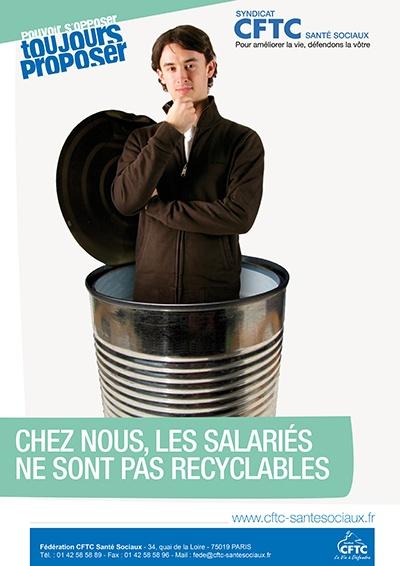 poster : chez nous, les salariés ne sont pas recyclables
