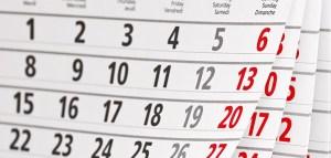 Calendrier des instances fédérales 2014