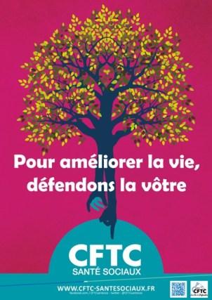 """Poster : """"Pour améliorer la vie, défendons la vôtre"""""""