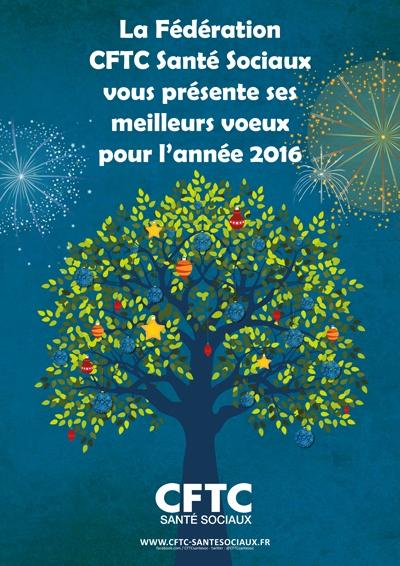 Poster : Les voeux de la Fédération CTFC Santé Sociaux
