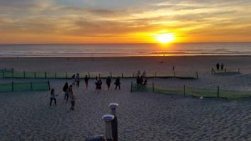Sonnenuntergang am Tag der Ankunft