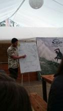 Theorieunterricht im Camp