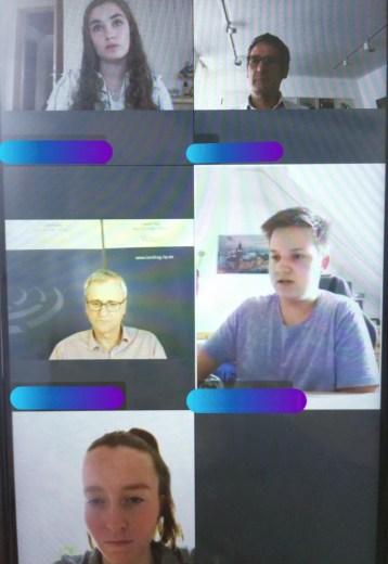 Videokonferenz mit Hr. Hering