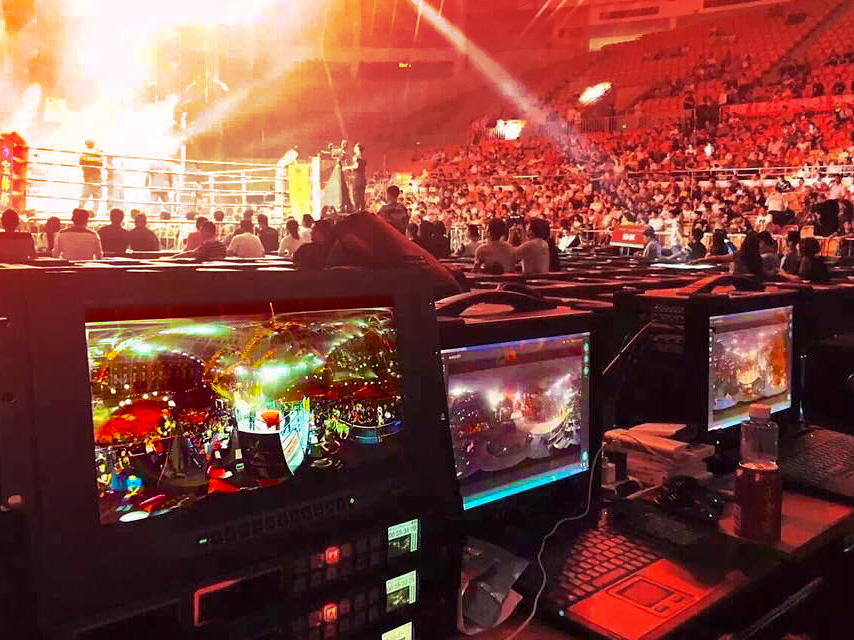 boxing match in live 360 video broadcast