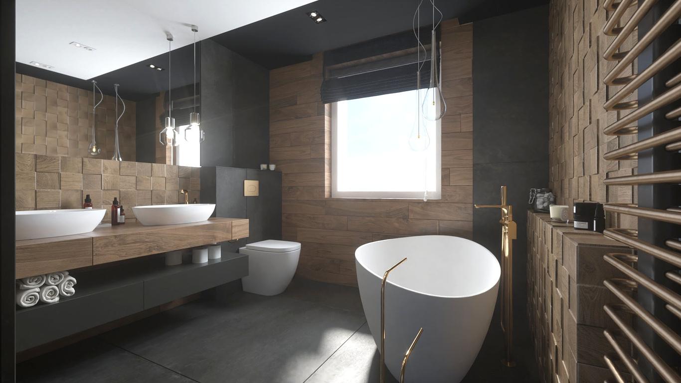 dark bathroom dominika magon