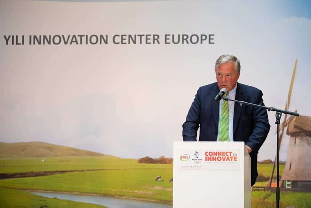 Boudewijn Poldermans Speeches at opening Yili Innovation Centre Boudewijn Yili 12 sep 2018
