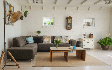 a living room with good air