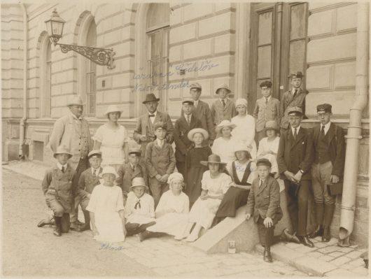 Gödelövsbarnens skolutflykt 1922 till Stockholm