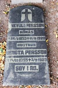 Enevåld Persson (1853-1920) och hustrun Bengta Olsdotter (1855-1929) Rönås 8