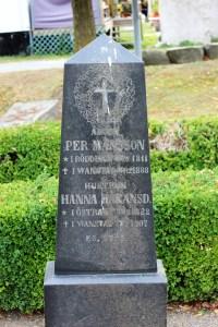 Per Månsson (1811-1888) och hustrun Hanna Håkansdotter (1822-1907) Vanstad 18