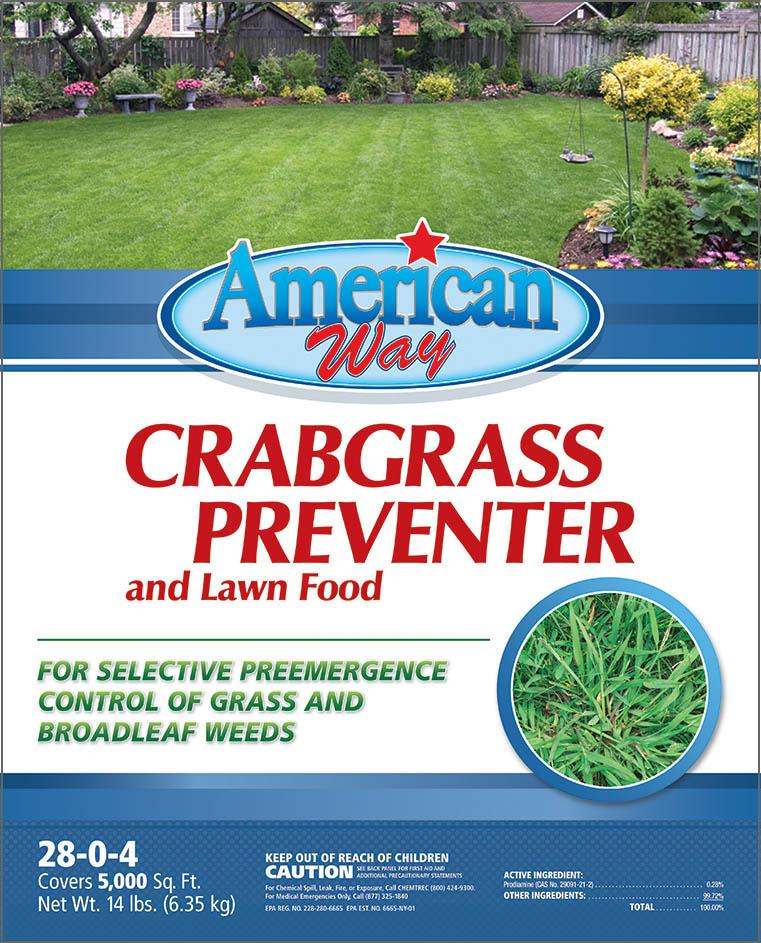 American Way Crabgrass Preventer - Package Design