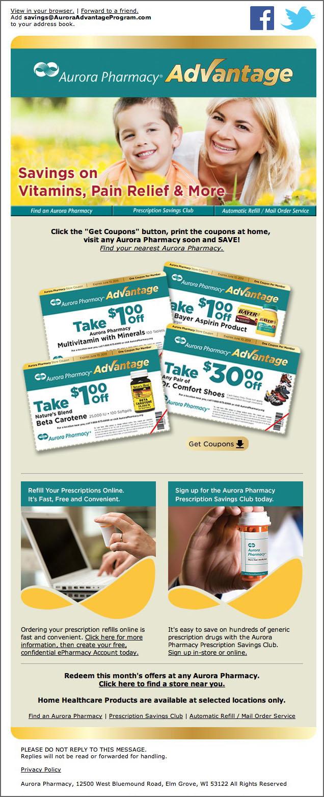 Aurora Pharmacy Advantage Program - Email
