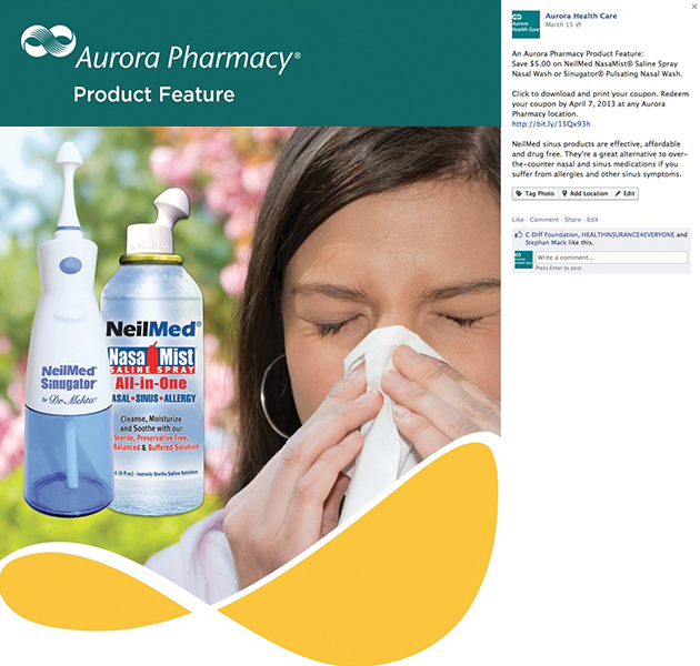 Aurora Pharmacies (Wisconsin) - Facebook Post