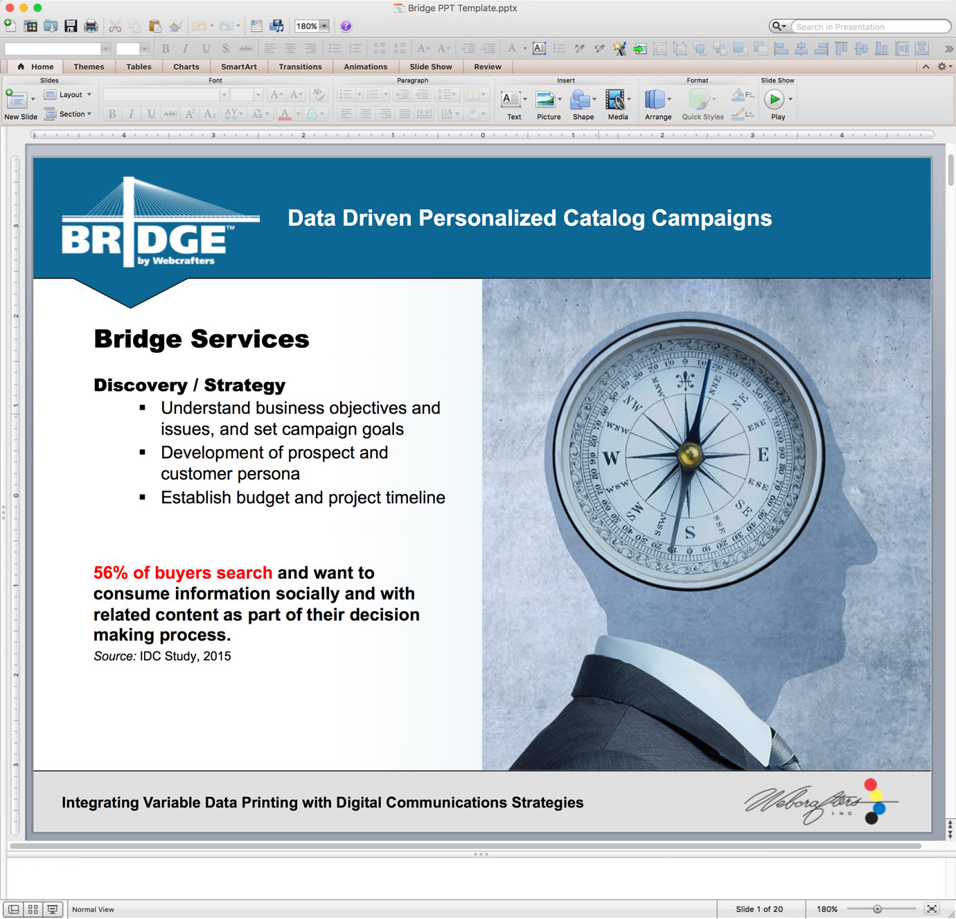 Example of PowerPoint Graphics - Interior Slide