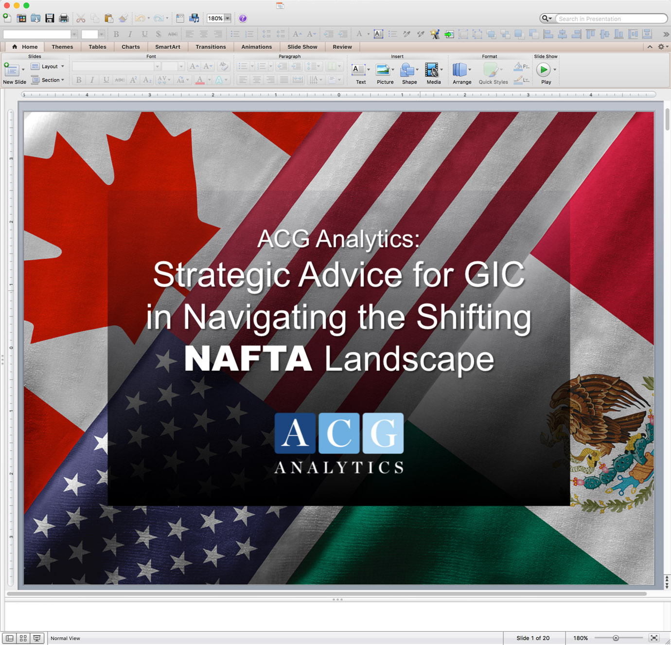 Example of PowerPoint Graphics - Opening Slide