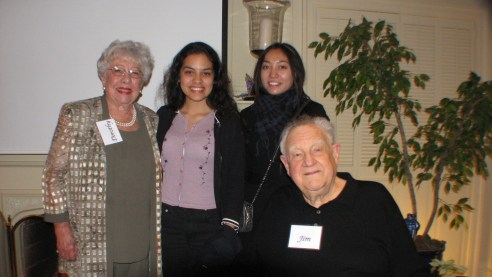 Federal Judge; Dorothy Nelson, Natalie Guerrero, Stephanie Yuan, and Retired Judge; Jim Nelson at their home Feb 23, 2011