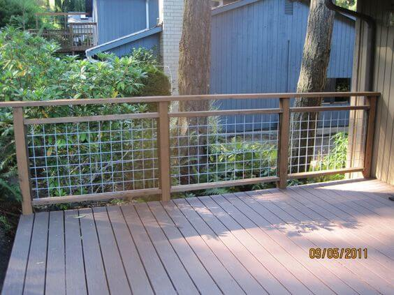 Amazing deck railing ideas hog wire - materials - designs - styles - building tips