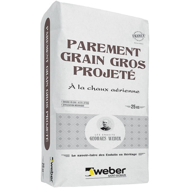Weber Parement Grain Gros Projete 25kg Weber Cal Pg