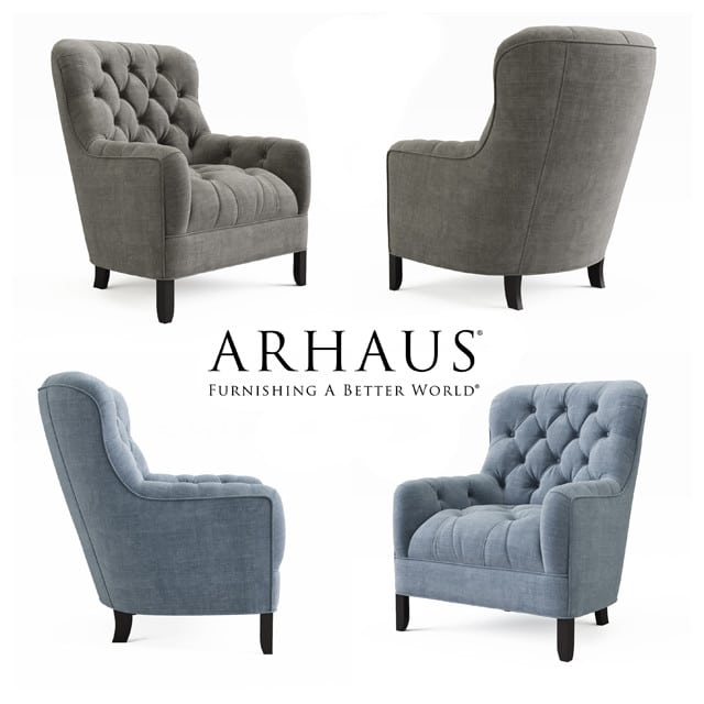 arhaus club 34 tufted upholstered