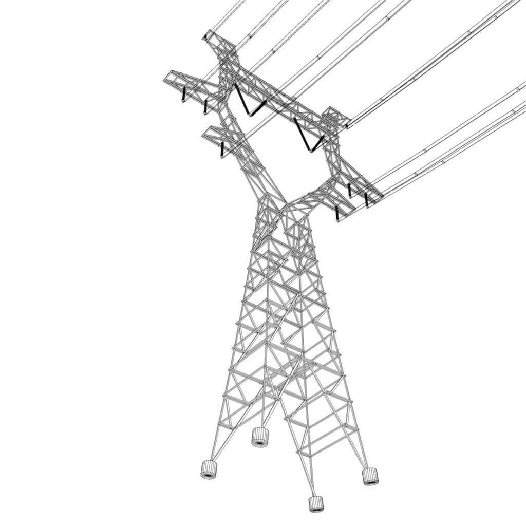 Modular Powerlines 3d Model
