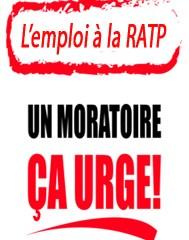 Les syndicats exigent un moratoire sur l'emploi à la RATP !